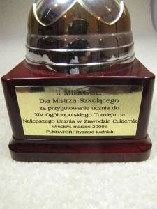 Drugie miejsce dla mistrza szkolącego do XIV turnieju Wrocław 2009