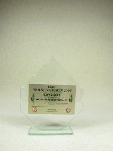 Zwycięzca Najlepszy Produkt Lokalny Targi Rolnicza Jesień 2005