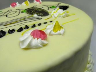 Tort praski w białej czekoladzie