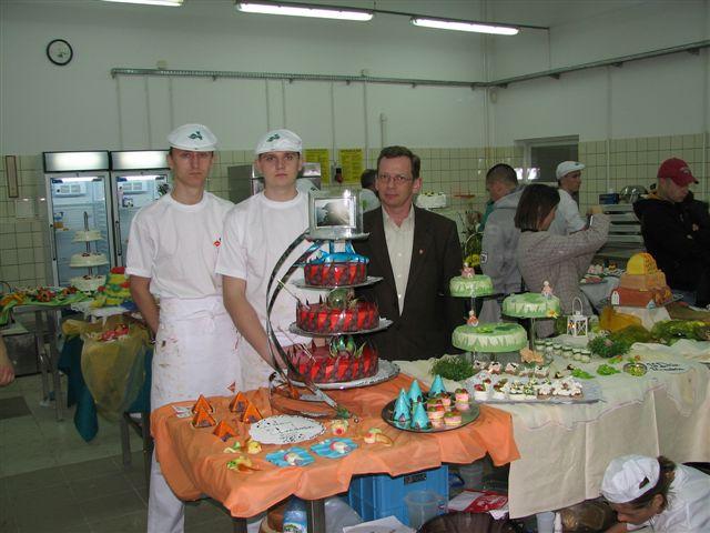 Bartek Dawid i Przemysław Kuczora przed pracą Dawida